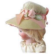 Silk Bonnet For Mignonettes Rosettes