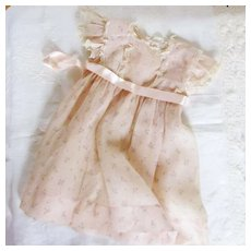 Jane Withers 1930's Organdy Dress For Little Girl Or Large Doll