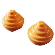 Vintage Butterscotch Bakelite Conical Buttons Set