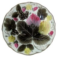 Wedgewood Majolica  Grape leaf and Strawberry Plate 19th C