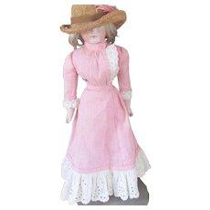 Pink Gingham Walking 2 piece Dress Fashion Doll