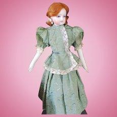 Silky Jacquard Two Piece Peplum Dress For Fashion Doll