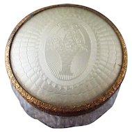 Art Deco Enameled Guilloche Powder Vanity jar