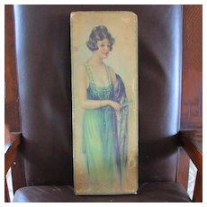 Over Large 1921 Candy Box Beautiful Woman Signed Archie Gunn