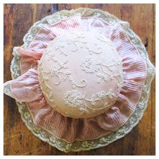 Vintage Silk Tambour Lace large Pin Cushion
