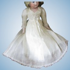 Organdy Printed Factory Gown With Petticoat
