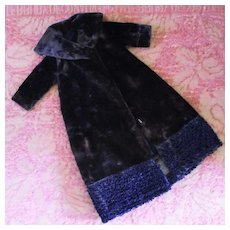 Velvet & Curly Lamb Full Length Fur Coat Fashion Doll