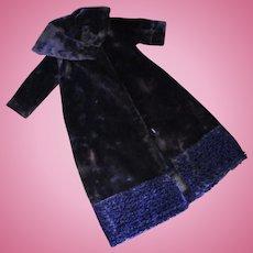 Velvet & Curly Lamb Full Length Fur Coat Fashion Doll