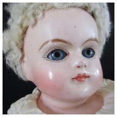 German Paper Mache  Cuno and Otto Dressel Wasch- echt Shoulder Plate Doll