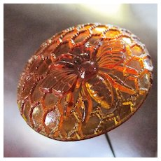 Victorian Hat Pin Bee On Honeycomb Glass