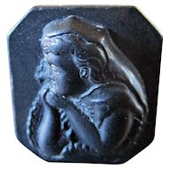 Victorian Mourning Whitby Jet Cameo