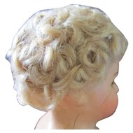 Small Curly Mohair Wig Smaller Doll Excellent Condition