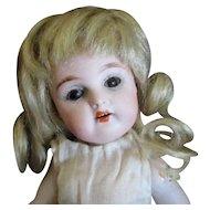 "8"" Brown Eyed Mignonette Swivel Head Blonde Mohair Wig"