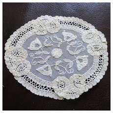 12 Exquisite Tambour Lace Applique Coasters For Wedding Table