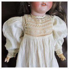 Beautiful Doll Gown Hand Crocheted Lace Jacquard Fabric