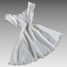 Authentic Victorian Ruffled Print Apron For Child Or Large doll