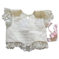 Exquisite Antique Bodice Pinafore For Doll
