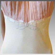 Art Deco Silk & Chiffon Negligee