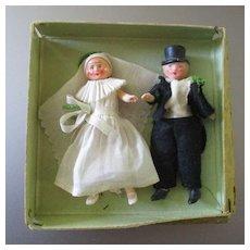 Bride & Groom 1930's Cake Topper
