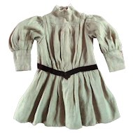 All Original Victorian Winter Dress For Large Doll