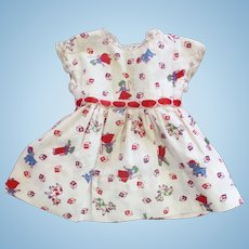 Adorable 40's-50's Factory Doll Dress
