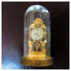 Dollhouse Miniature Glass Dome Mantel Clock