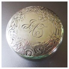 Antique Large Sterling Silver Perfume Bottle Top With Marks