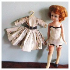 1957 Jill Doll Vogue Dress Camisole With Stockings & Garters