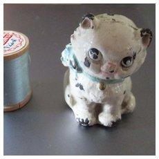 Cast Iron Hubley Googly Eye Dollhouse Cat