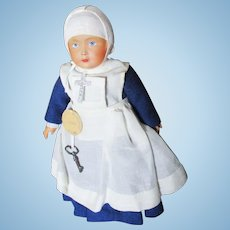 Celluloid French Nun Doll Tagged Armes Des Bourgogne