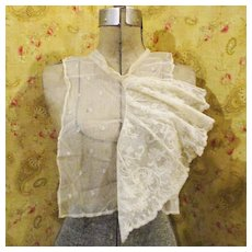 19C Chantilly Lace Asymmetrical Large Flounce Collar Provenance