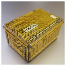 Tiny Tin Rail Trunk For Dollhouse Hornby Series 1930's