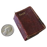 Miniature Book Faust, Ein Tragodie By Goethe 1907 Dollhouse