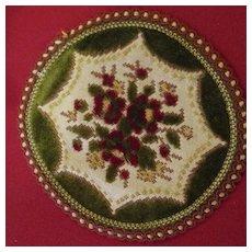 Vintage Dollhouse Belgian Velvet Floral Rug