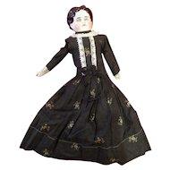 19C China Doll Calico Dress