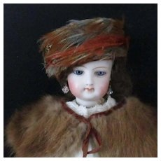 Vintage Feather Head Band For Fashion Doll