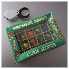Vintage Tiny Christmas Glass Balls for Doll's Tree