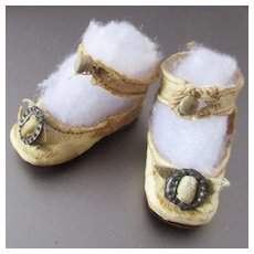 Keystone Cream Ankle Strap Shoes Smaller Doll