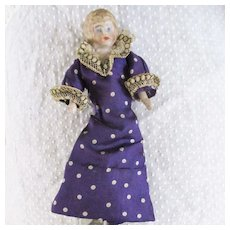 Silk Purple Polka Dot Original Dress For Mignonette