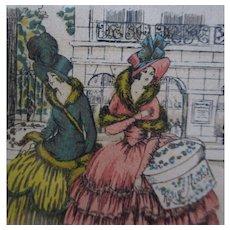 Original Rag Hat Box Label Rousine Aoust Modes Shop Paris 1926