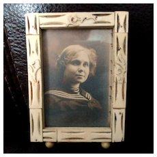 Carved Bone Vintage Small Frame