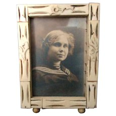 Carved Bone Vintage Small Frame