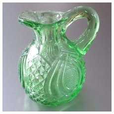 Dollhouse Pitcher Blown Pressed Glass