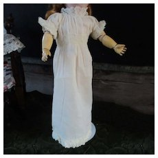 Lovely Small Doll's Lace Gown