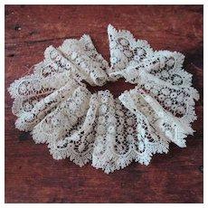 Antique Bobbin Lace Flounce For Doll Hem