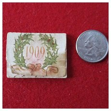 1909 Miniature Christmas Calendar for Dollhouse
