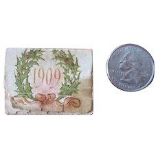 1909 Miniature Christmas Calendar for Dollhouse