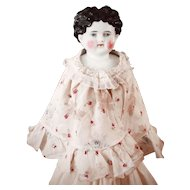 19C Fichu Fabric Cape-let For China Doll