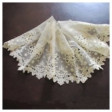 Luscious Embroidered Net Lace For Doll Hem Flounce
