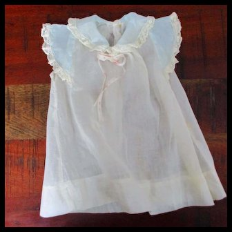 Organdy & Lace Dress For Baby Doll